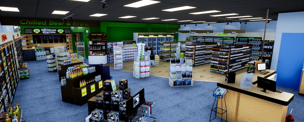 Virtual liquorland NZ 3D