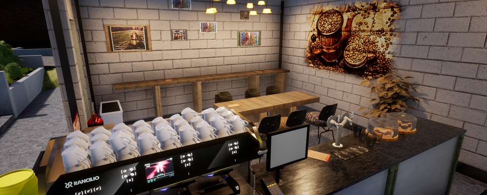 VR Cafe environment 3d
