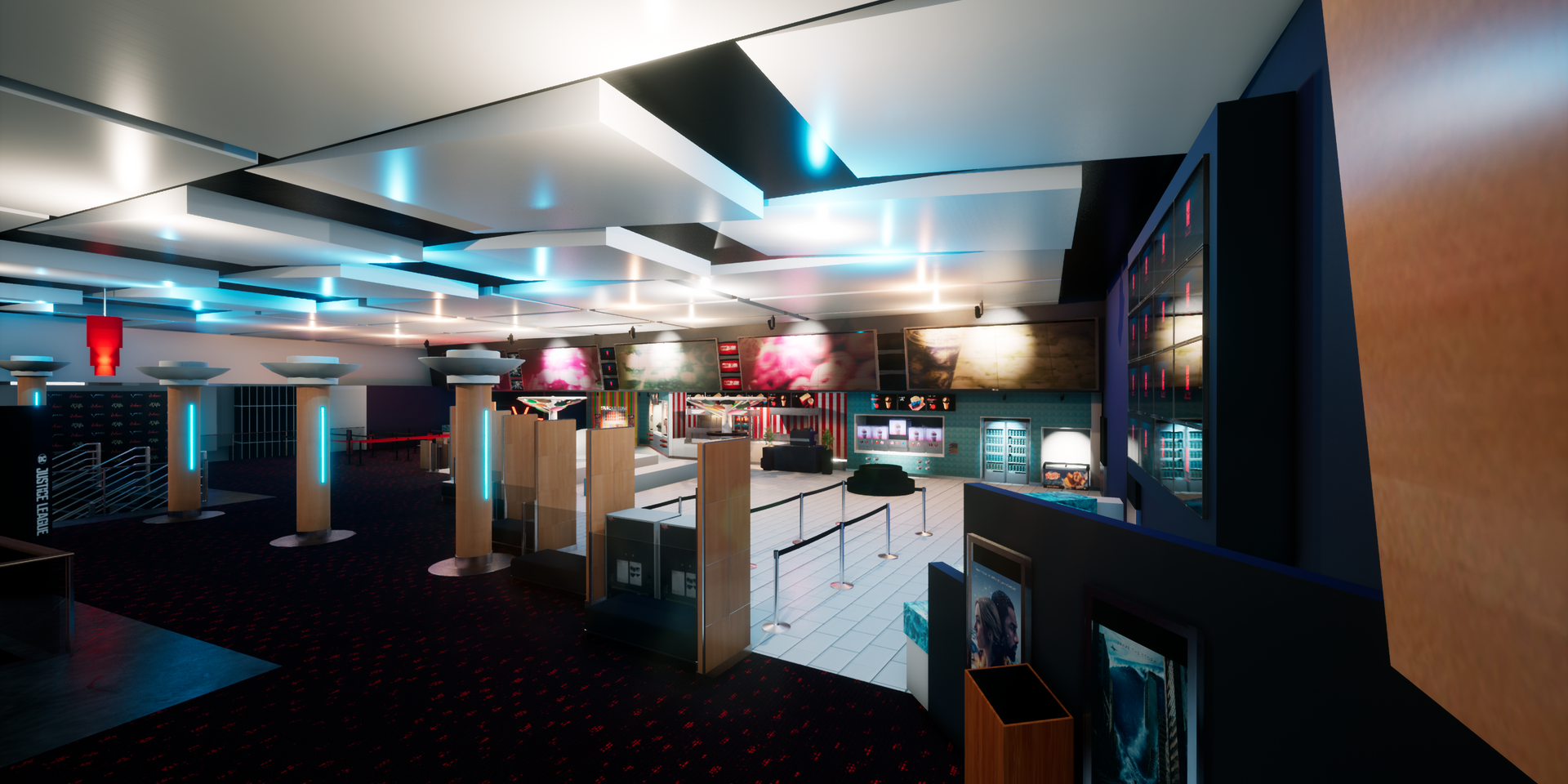 Virtual cinema VR foyer