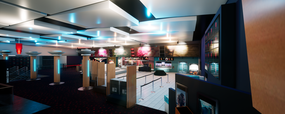 Virtual cinema VR foyer