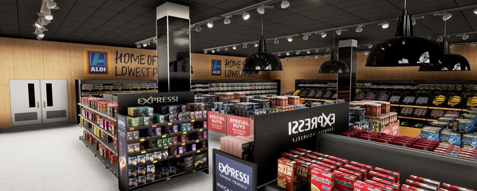 ALDI VR supermarket