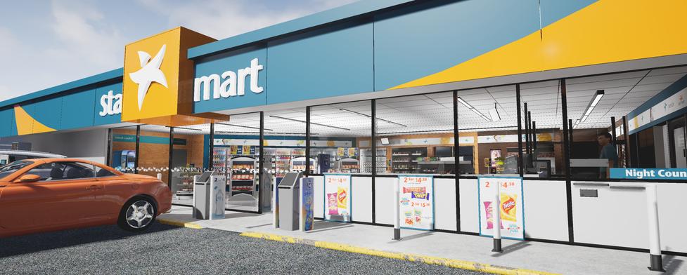 Virtual petrol and convenience Caltex Starmart