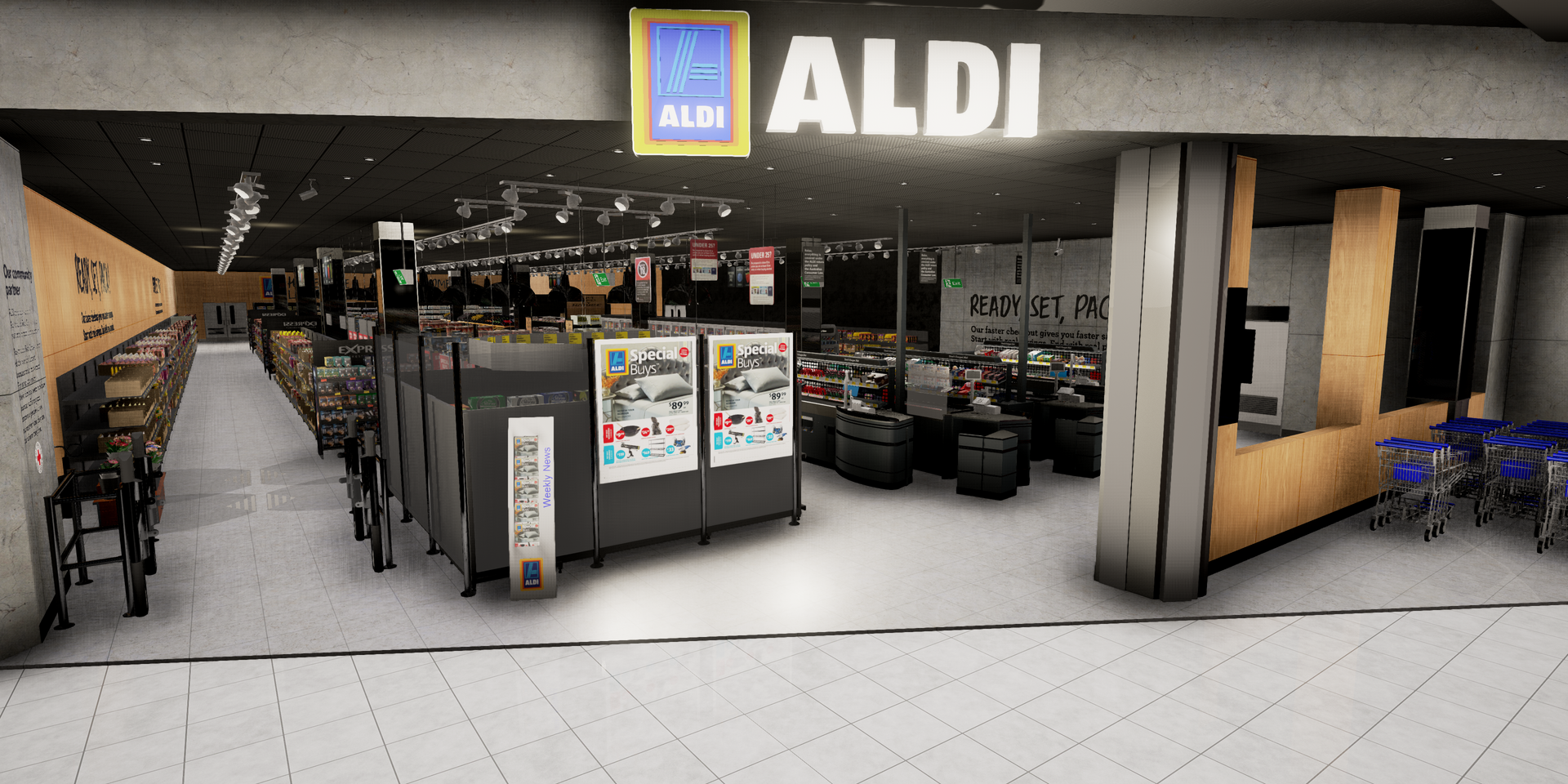 ALDI VR supermarket entrance