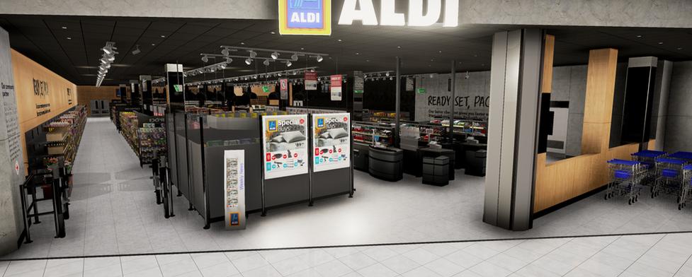 ALDI VR supermarket entrance