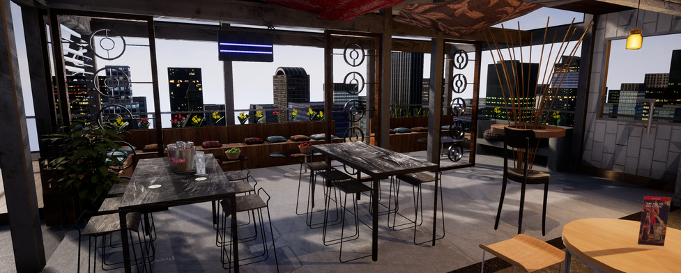 3d VR Restaurant internal