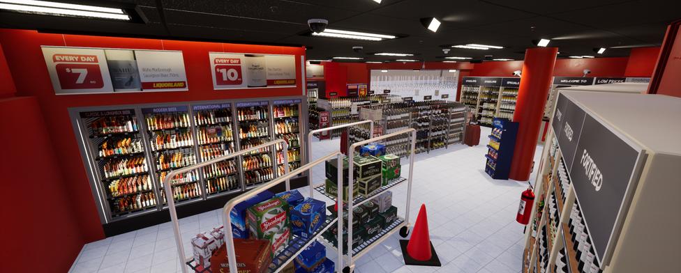 Liquor retailer virtual store
