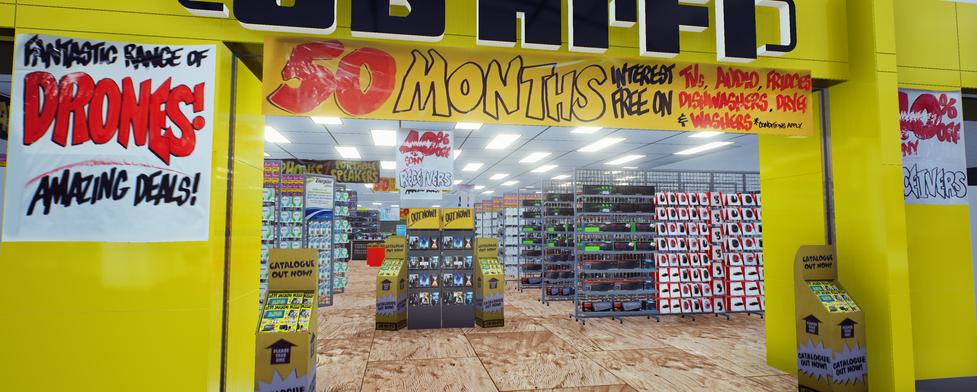 3d VR electronics store