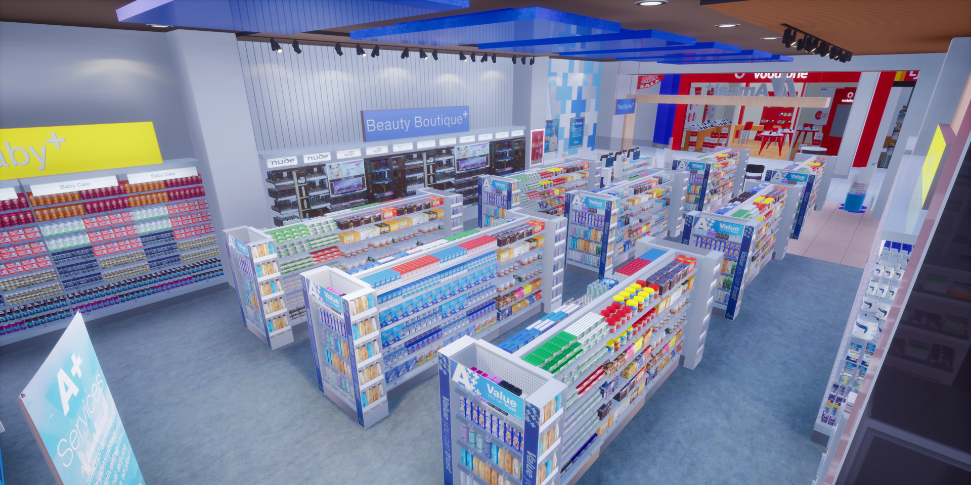 Virtual retail scene - Pharmacy
