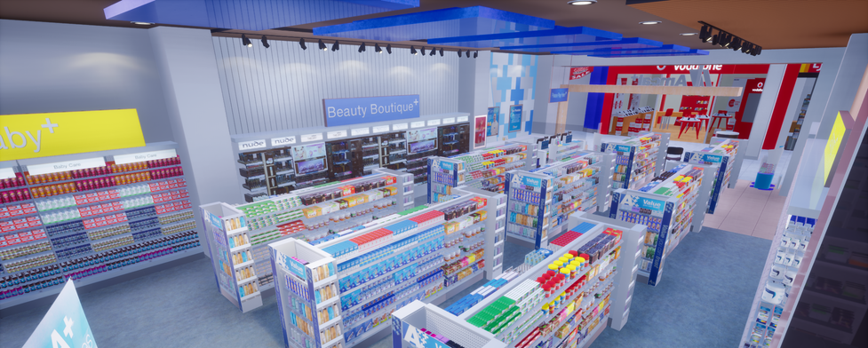 Virtual retail scene - Pharmacy