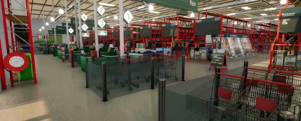 VR hardware store Bunnings