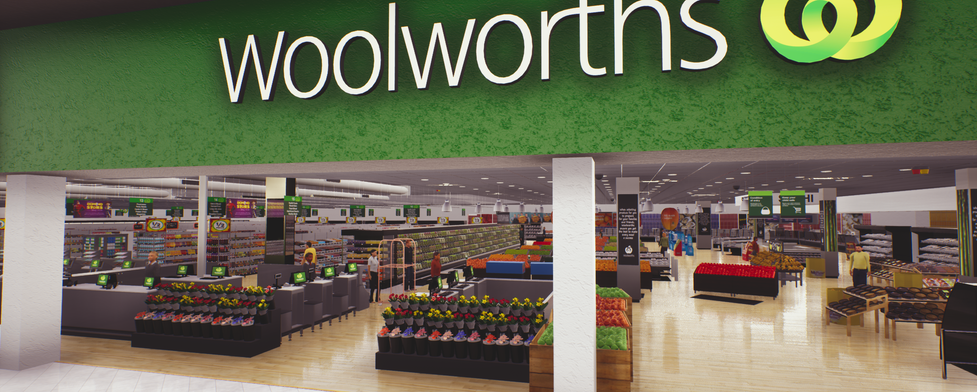 VR 3d Woolworths grocery