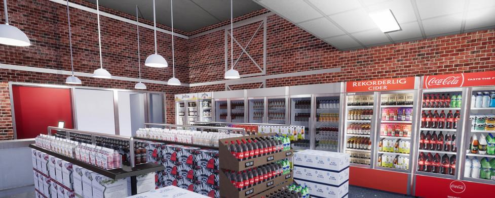 Off premise liquor 3d VR store