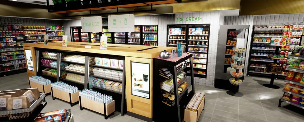 Caltex Foodary interior vr petrol and convenience