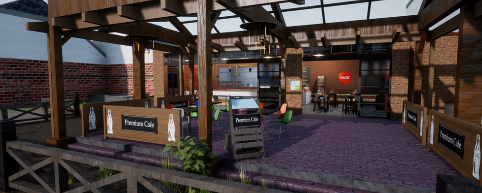 Virtual restaurant 3d