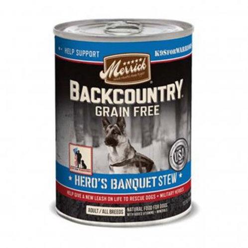 Backcountry Grain Free Wet Dog Food Hero's Banquet Stew