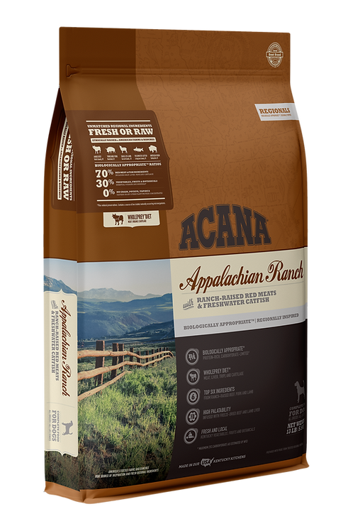 ACANA Regionals Appalachian Ranch with Ranch-Raised Red Meat & Freshwater Catfis