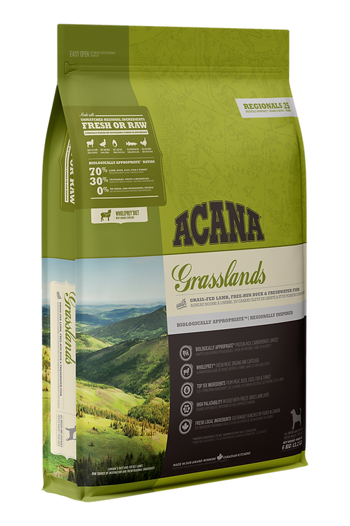 ACANA Regionals Grasslands with Grass-Fed Kentucky Lamb, Freshwater Trout & Game