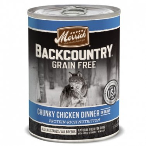 Backcountry Grain-Free Chunky Chicken Dinner in Gravy Canned Dog Food