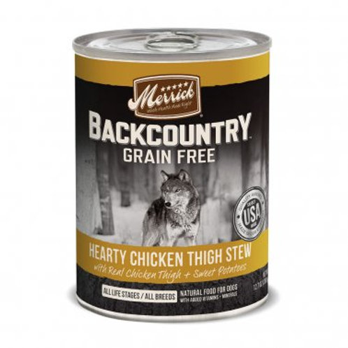 Backcountry Grain Free Wet Dog Food Hearty Chicken Thigh Stew