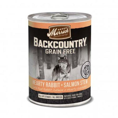 Backcountry Grain-Free Hearty Rabbit & Salmon Stew Canned Dog Food