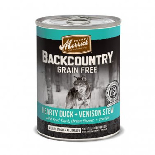 Backcountry Grain Free Wet Dog Food Hearty Duck & Venison Stew