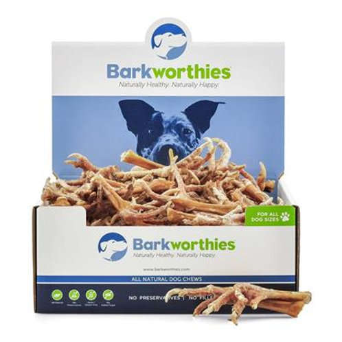 Barkworthies Chicken Feet; Case of 50
