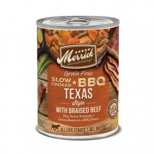 Grain Free Wet Dog Food Slow-Cooked BBQ Texas Style with Braised Beef