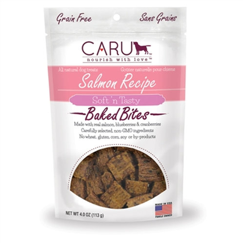 Caru Dog Natural Salmon Recipe Bites 4oz