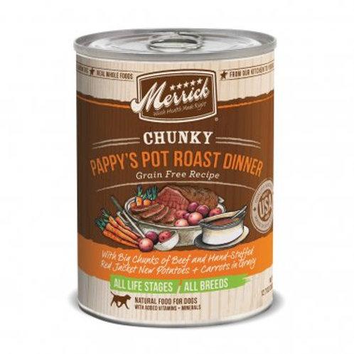 Chunky Grain Free Wet Dog Food Pappy's Pot Roast Dinner