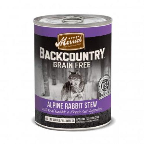 Backcountry Grain Free Wet Dog Food Alpine Rabbit Stew