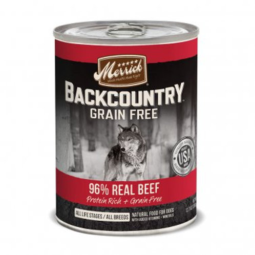 Backcountry Grain Free Wet Dog Food 96% Real Beef Recipe