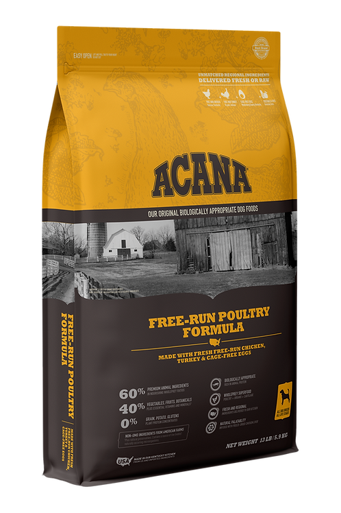 ACANA Free-Run Poultry Formula with Free-Run Chicken & Turkey and Cage-Free Eggs