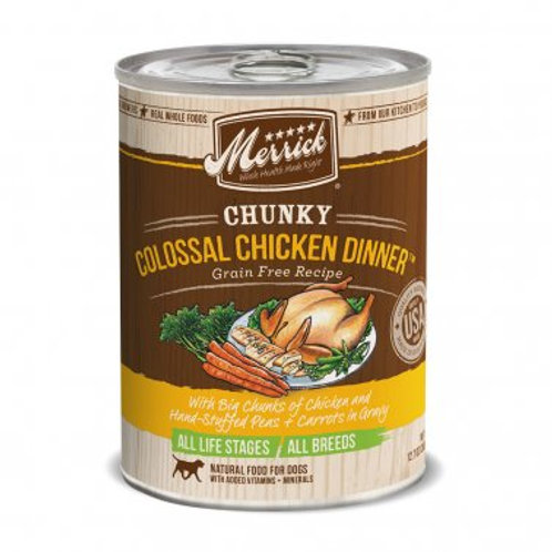 Chunky Grain Free Wet Dog Food Colossal Chicken Dinner