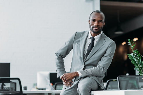 african-american-businessman-sitting-on-