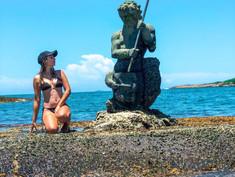 A estátua de Netuno some em Guarapari