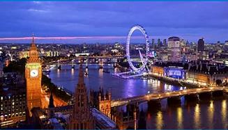 Panoramic view of London.