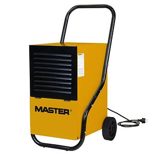 black and yellow industrial dehumidifier.