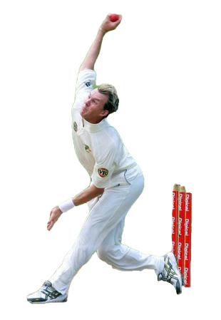 cricket bowler with wickets