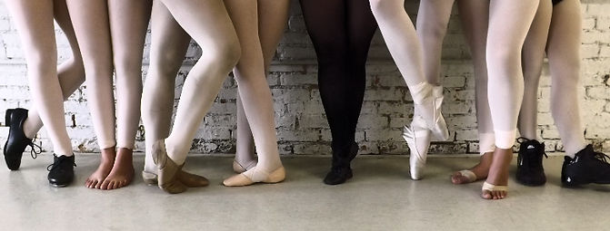 Legs & feet of different dancers