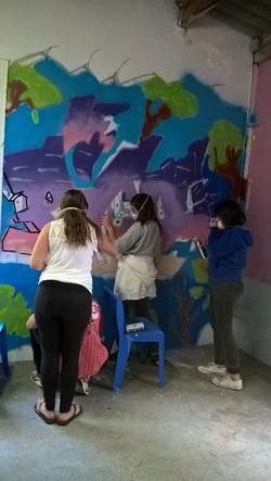 Projet graffiti, ALAE Le Picou