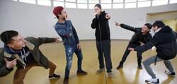 Démo beatbox à l'école La Gravette