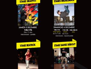 "Changement de lieu Stages ""Hip-Hop Sunday"""