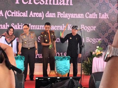 Inagurasi Pelayanan Cathlab RSUD Kota Bogor oleh Walikota Bogor Dr. Bima Arya