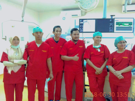 First Cath Lab patient at RSUD Kota Bogor