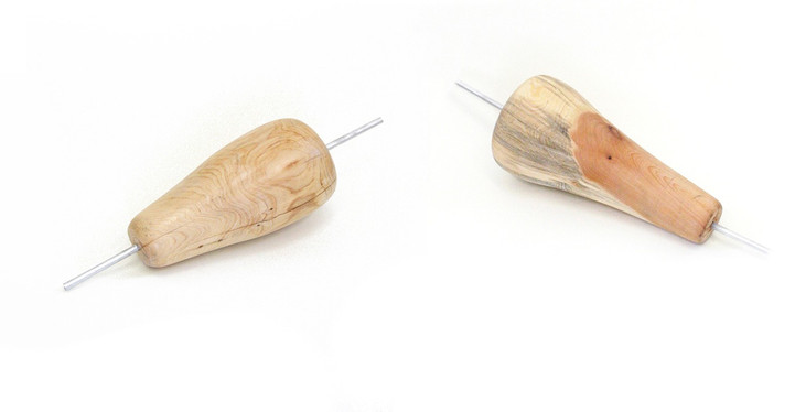 two wooden kebabs, 60x25x25cm, 2015