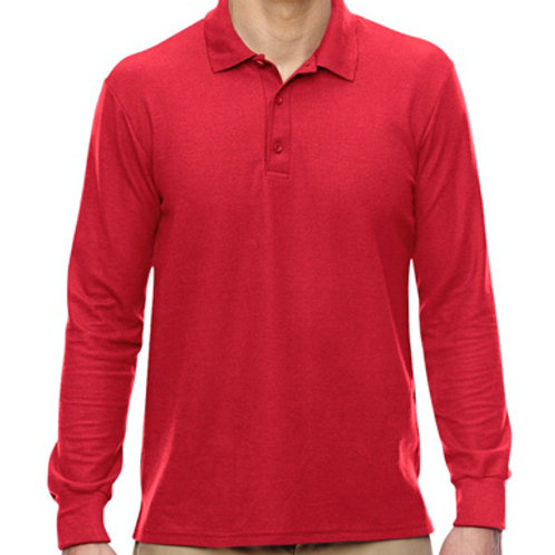 Long sleeve Gildan golf shirt