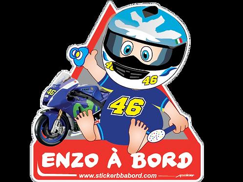 Enzo a bord