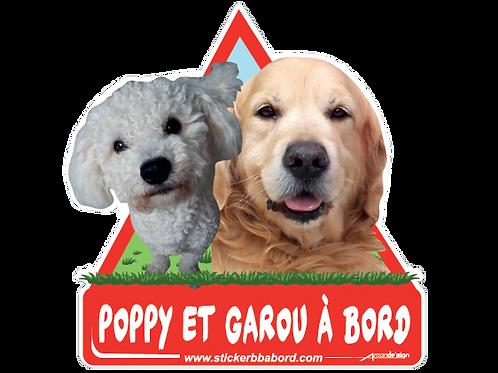 Poppy et Garou bord