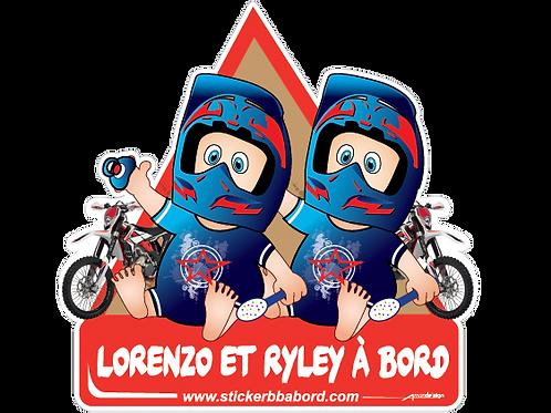 Moto cross jumeaux