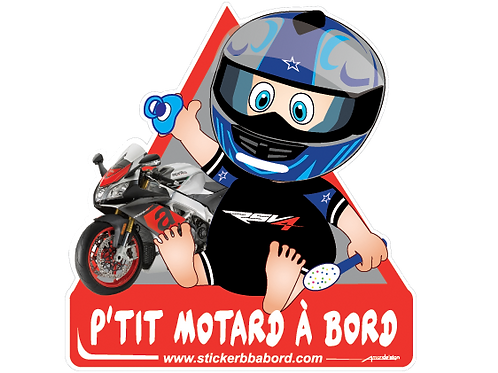 P'tit motard à bord